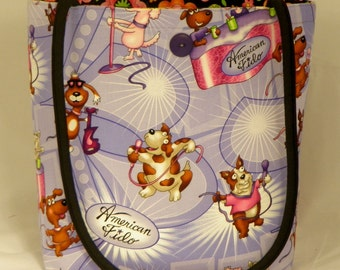 American Idol... I mean American Fido REVERSIBLE Carry-All Tote / Project Bag / Purse