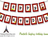 Printable Ladybug Birthday Party Banner by Paisley In Paris
