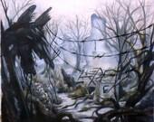 Apocalypse Landscape 12x12 inch Illustration Print