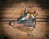 Scott Schneider Pro Model - HIGHTOP Leather Boat Shoes - Black & Brown Acid Washed Italian Lambskin w/ Pendleton details - MADE to ORDER