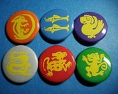 Legends of the Hidden Temple Pinback Button Set (or Magnets)