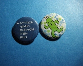 Final Fantasy Pinback Button Set (or Magnets)