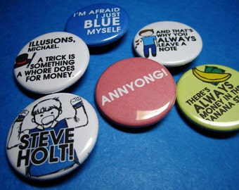 Arrested Development Pinback Button Set (or Magnets)