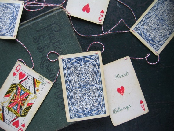 My Heart Belongs To You Valentine's Day Playing Card Banner Garland