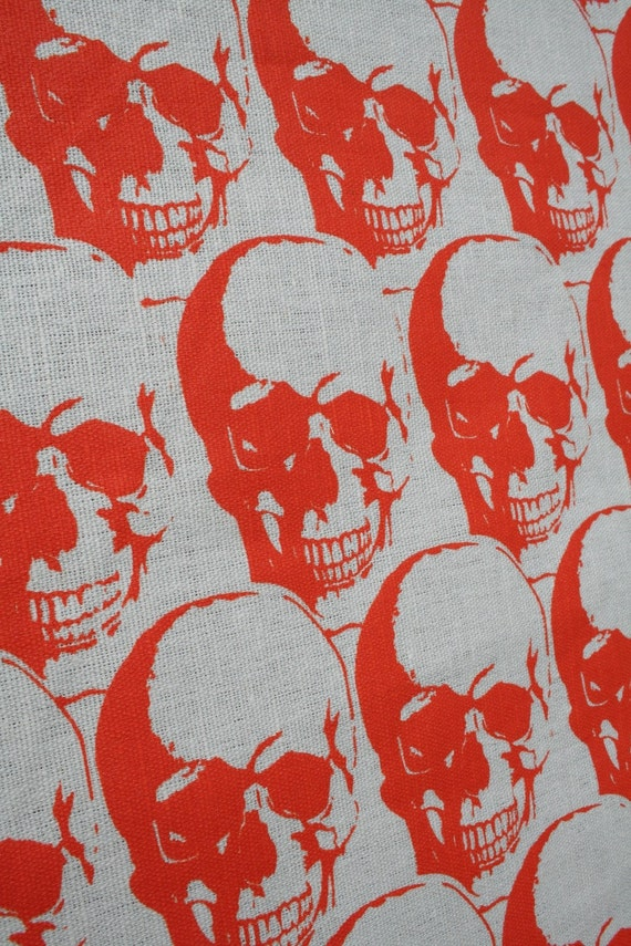 Regency Skull Kitchen Towel Orange