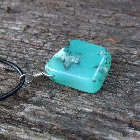 Chrysoprase jewelry - sea green gem stone - handmade in Australia by NaturesArtMelbourne