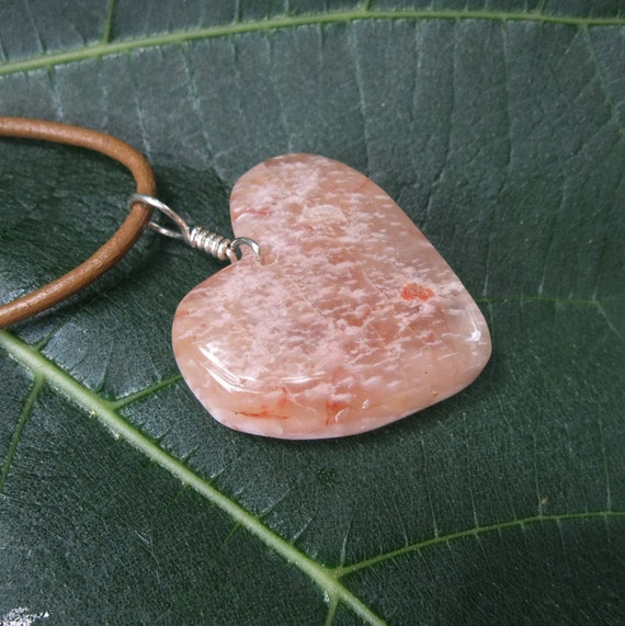 Heart jewelry - Agate heart necklace -  naturally sourced earth treasure