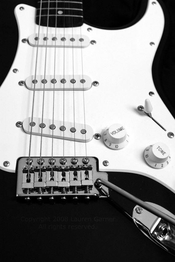 electric guitar black and white music photography musician. Black Bedroom Furniture Sets. Home Design Ideas