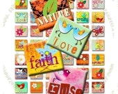 BUY THREE Get One FREE - SCRABBLE CRAZY- scrabble tiles 0,83 x 0,75 inch for pendants and more - Download and Print Digital Collage Sheet - You can print it as many time as you need -