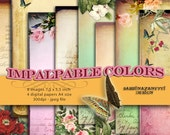 Digital sheet paper pack   IMPALPABLE COLORS  Backgrounds 7.4 x 5.5 inch download  jpeg format  / pp133