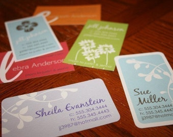 Calling Cards, Business Cards, Mommy Cards - Choose from 6 Fabulous Designs - set of 50