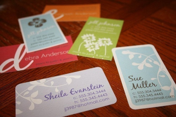 Calling Cards Business cards Mommy cards  - Choose from 6 fabulous designs - Set of 50