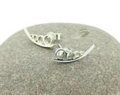 Cerith Stud Earrings in Sterling Silver