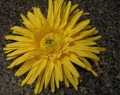 Girls Hair Bow Flower in Summer Yellow