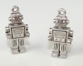 36 Robot Charms Pewter (31510)
