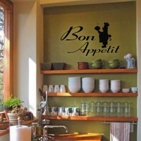 Items Similar To Bon Appetit With Cute French Chef Wall