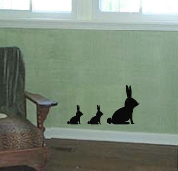 Little Bunny Rabbit Family vinyl wall decal graphic wall art sticker