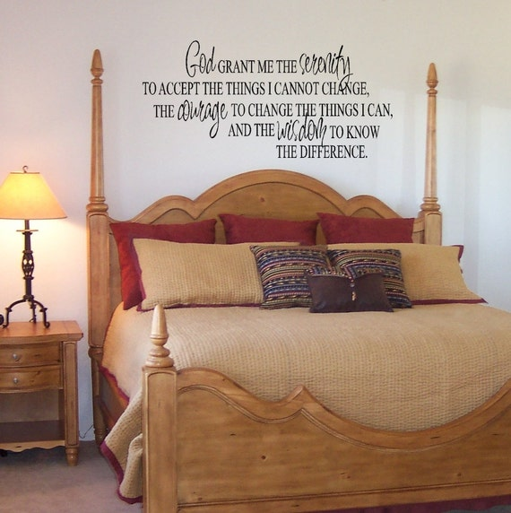 Items Similar To Serenity Prayer Vinyl Wall Decal Home