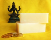 Lakshmi, Goddess of Good Fortune handmade soap with organic palm oil - Lotus, Patchouli, and Orange