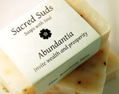 Abundantia - Rosemary, Pine, & Mint handmade essential oil soap (vegan, all natural) - inspired by Abundantia, Goddess of Wealth