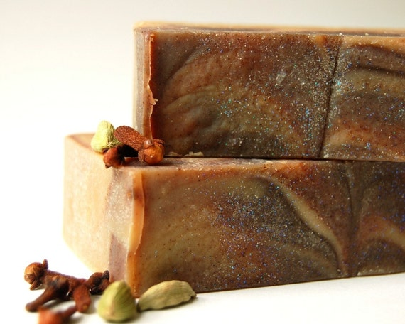 Astarte, Goddess of the Evening Star - Spiced Milk and Honey handmade soap with organic palm oil