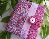 Covered Notebook-Raspberry Snakeskin