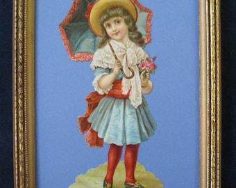 1890's Victorian Scrap Original Die Cut Victorian Ephemera Fashion Child Portrait