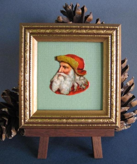 Victorian Father Christmas Decorations: Victorian Santa Portrait Vintage Santa Picture Christmas