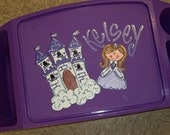 Custom for egloede 2 Handpainted Lap Trays or Desks by Crayon Princess