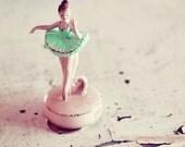 Ballerina - 5x5 Original Signed Fine Art Photograph - Girls room decor - simple classic - soft pink - ballet print