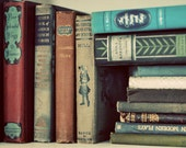 Vintage Book Collection 4x6 Photograph, Old Books, Reading Print, Library Photo, Fine Art Photography