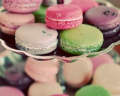 Macaron Photo - Macarons 5x7 Photograph - french cookie rich pastel colors green pink sweets print