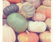 Pumpkins Photograph, Still Life Photography, Square Print, Fine Art Print, Minimal Autumn Decor, Fall Photo