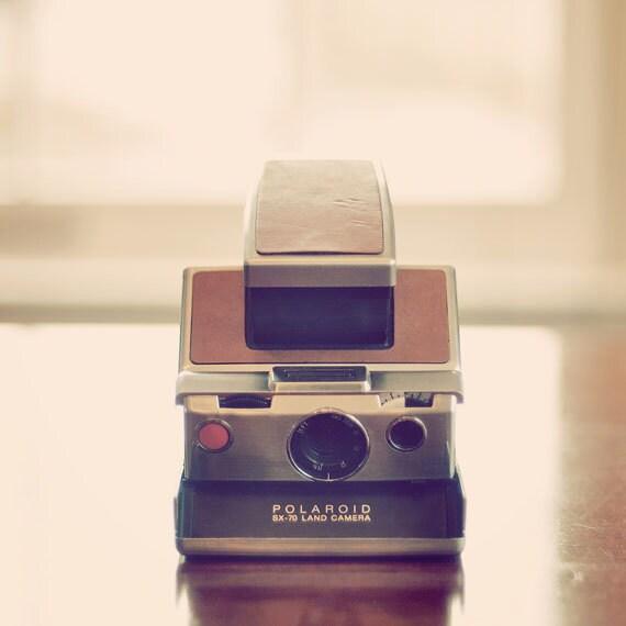 Photography, Camera, Still Life, Polaroid Land, Vintage Camera, Pink, Dreamy, Retro, Home Decor