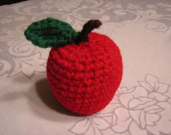 Crochet Knit Red Apple for Teachers & Secretary's-Once Upon a time-Graduation-Great for Garland or Mobiles