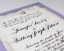 Calligraphy Wedding Invitations Love no. 24