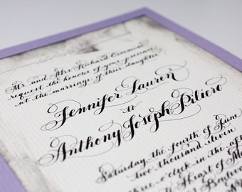 Calligraphy Wedding Invitations Love no. 24
