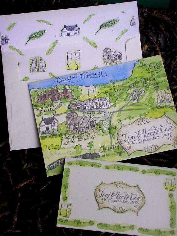 Watercolor Map Paper Sample and Intro Pack