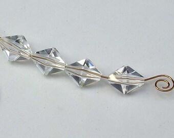 12 Vintage Swarovski Crystal Polygon Beads 5125 LG 1.4mm Hole (6012 -12)