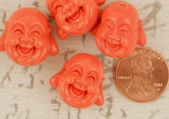 LAST 4 Hyacinth Laughing Buddha Beads Large 19mm