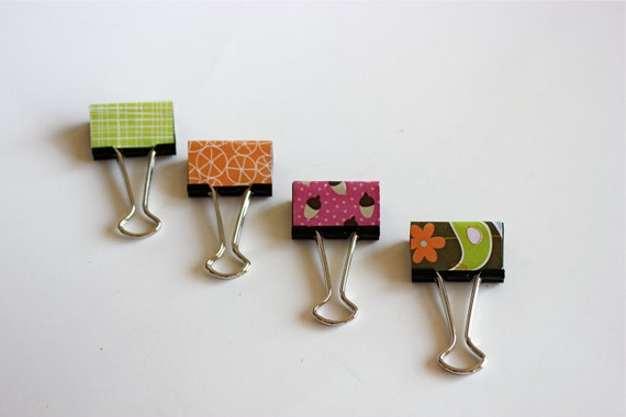 4 Acorn Forest Organizer Binder Clips - Black Friday Sale