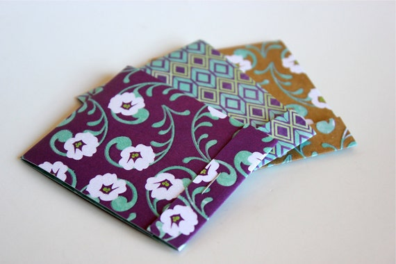 3 Wildflower Matchbook Notebooks Stationery