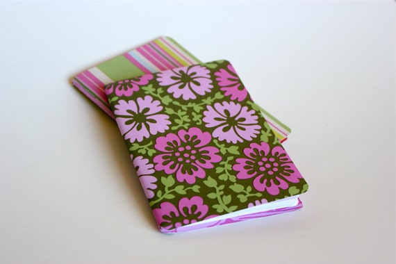 Set of 2 Aloha Pink Amy Butler Mini Journal Notebooks