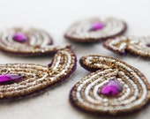 Exotic Beaded Bindi Appliques - Set of 5