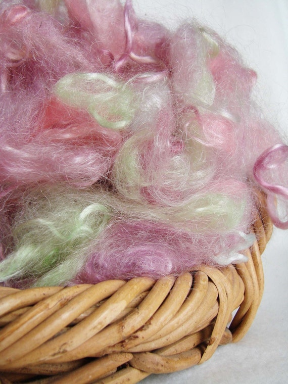 Hand Dyed Picked Mohair  - 1 oz