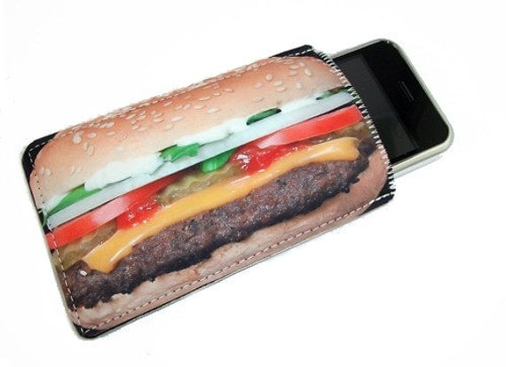 Hamburger Fast Food Gadget Case - Fits iPhone iTouch Cell Phones