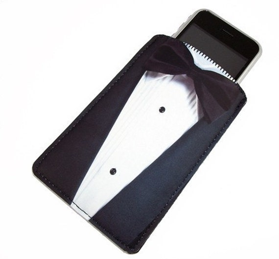 Tuxedo Black and White Gadget Case - Fits iPhone iTouch and more