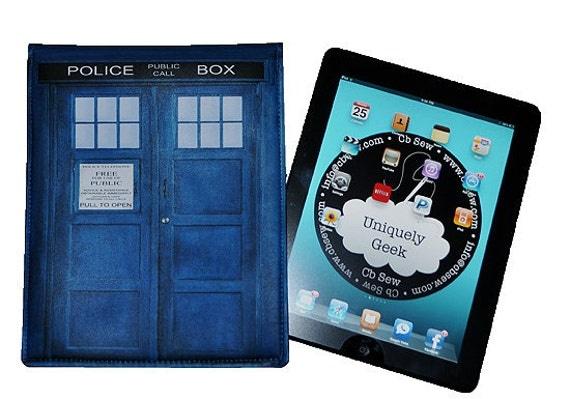 iPad Case British Blue Police Box  Fits iPad 1 iPad 2