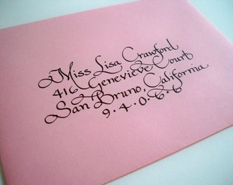 Hand addressed envelopes in calligraphy