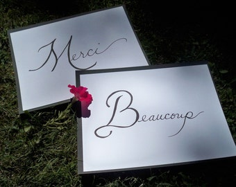 Merci Beaucoup sign for wedding